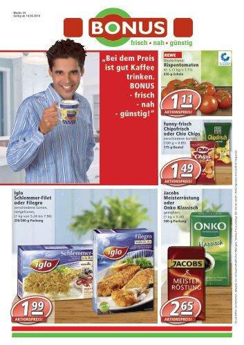 """""""Bei dem Preis ist gut Kaffee trinken. BONUS - frisch ... - BONUS-Markt"""