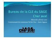 Réunion n°2 tenue le 3 février 2010 - SAGE Cher aval