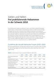 Faktenblatt fpH 2010 - Schweizerischer Hebammenverband