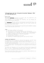 Informationen für die freipraktizierenden Hebammen (FPH) zur SHV ...