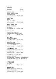 5 MAI 2010 CABINETS SFI 16à 19h CUDREFIN- 1588 CABINET DE ...