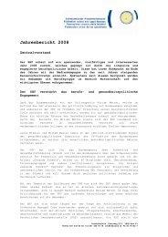 Jahresbericht 2008 - Schweizerischer Hebammenverband