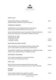 ABENDKARTE 07.02.2012 - Sage Restaurant