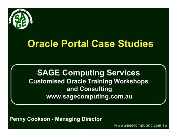 oracle sql case studies Tom copeland gives a step-by-step 'case study' of analyzing a query in postgresql and how to ensure ms sql: oracle: db2: ms select distinct: a sql case study.