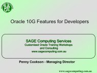 Oracle 10g New Features for Administrators : Study Guide