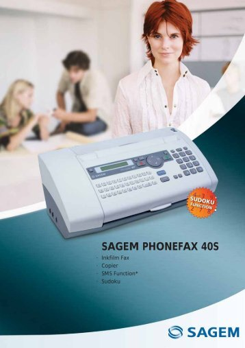 SAGEM PHONEFAX 40S - Sagemcom