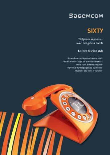 Téléphone répondeur avec navigateur tactile Le rétro ... - Telma