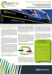 Technical specificaTions - Sagemcom