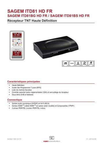 SAGEM ITD81 HD FR - Sagemcom