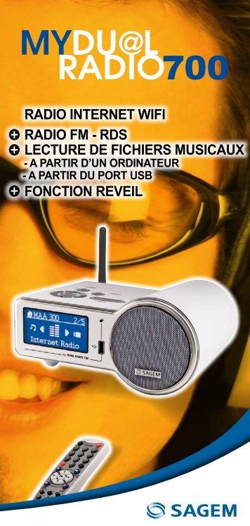radio internet wifi radio fm - rds lecture de fichiers ... - Sagemcom