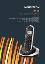Téléphone sans fil numérique - Sagemcom