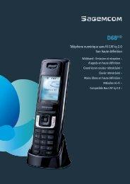 Téléphone numérique sans fil CAT-iq 2.0 Son haute ... - Sagemcom