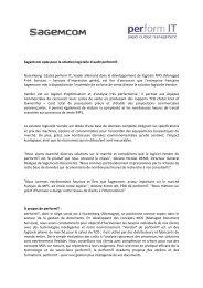 Sagemcom opte pour la solution logicielle d'audit performIT ...