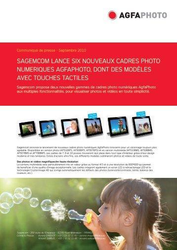 sagemcom lance six nouveaux cadres photo numeriques agfaphoto ...