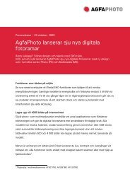 AgfaPhoto lanserar sju nya digitala fotoramar - Sagemcom