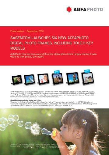 sagemcom launches six new agfaphoto digital photo frames ...