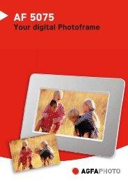 AF 5075 Your digital Photoframe - Sagemcom