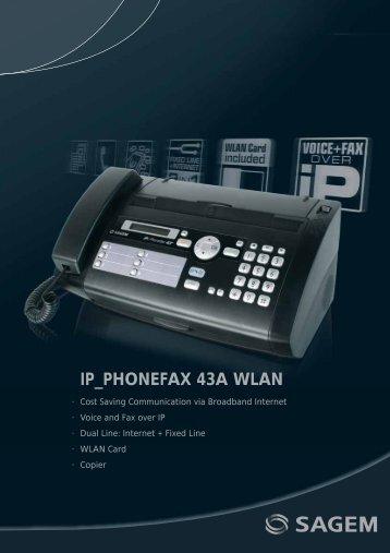 IP_PHONEFAX 43A WLAN - Sagemcom
