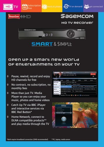 Open up a smart new world of entertainment on your TV