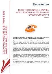 Sagemcom présente un nouveau téléphone sans fil à l'allure