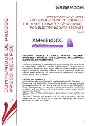 sagemcom launches xmediusdoc content express, the revolutionary ...