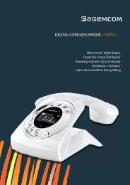 DIGITAL CORDLESS PHONE « SIXTY » - Sagemcom Digital
