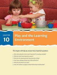 Play and the Learning Environment