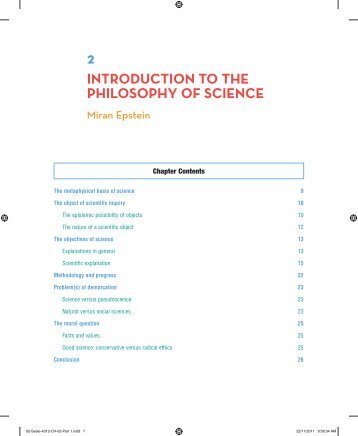 introduction to the philosophy of science - Sage Publications
