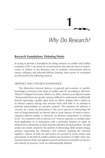 Chapter 1. Why Do Research? - Sage Publications