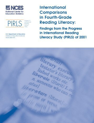 International comparisons in fourth-grade reading literacy findings