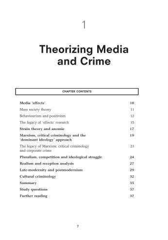 Chapter 1: Theorizing Media and Crime - Sage Publications