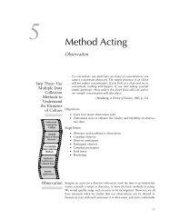 Method Acting - Sage Publications