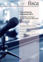 Steuertagung Mittelland 2013 - Sage Schweiz AG