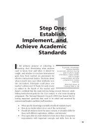 Establish, Implement, and Achieve Academic ... - Sage Publications