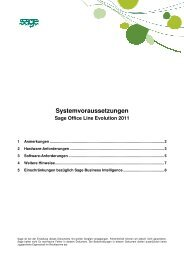 Systemvoraussetzungen - Sage Schweiz AG