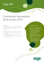 Gestion Commerciale - Sage Schweiz AG