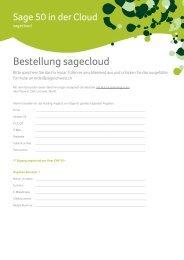 Bestellung sagecloud - Sage Schweiz AG