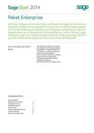 Sage Start Paket Enterprise - Sage Schweiz AG