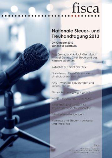 Nationale Steuer- und Treuhandtagung 2013 - Sage Schweiz AG