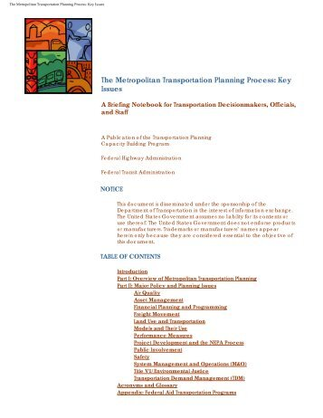 The Metropolitan Transportation Planning ... - Saginaw County