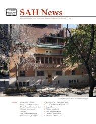 SAH News - Society of Architectural Historians