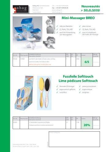 Mini-Massager BREO Fussfeile Softtouch Lime pédicure ... - Sahag AG
