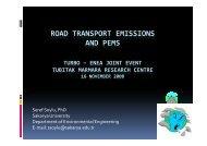 ROAD TRANSPORT EMISSIONS AND PEMS