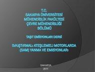 SAM yanma ve emisyonlar 2011-yeni - Sakarya Üniversitesi