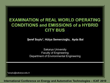 International Conference on Energy and Automotive Technologies