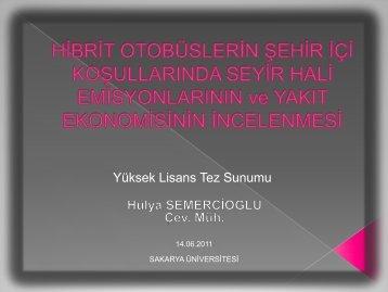 Haziran 2011 sunumu(*pdf - Sakarya Üniversitesi