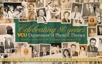 v e r s - School of Allied Health Professions - Virginia ...