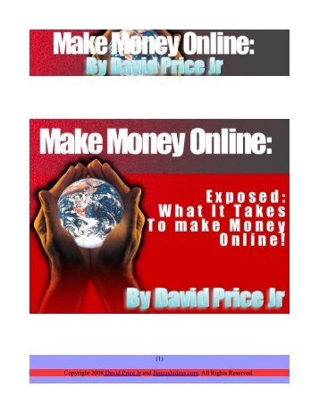 (1) Copyright 2008 David Price Jr and Bigcashideas.com. All Rights ...