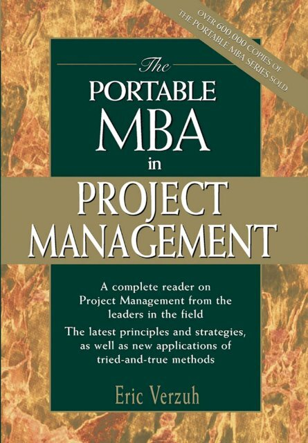 The Portable MBA in Project Management pdf