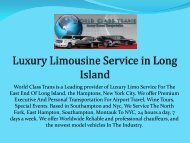 Luxury Limousine Service in Long Island